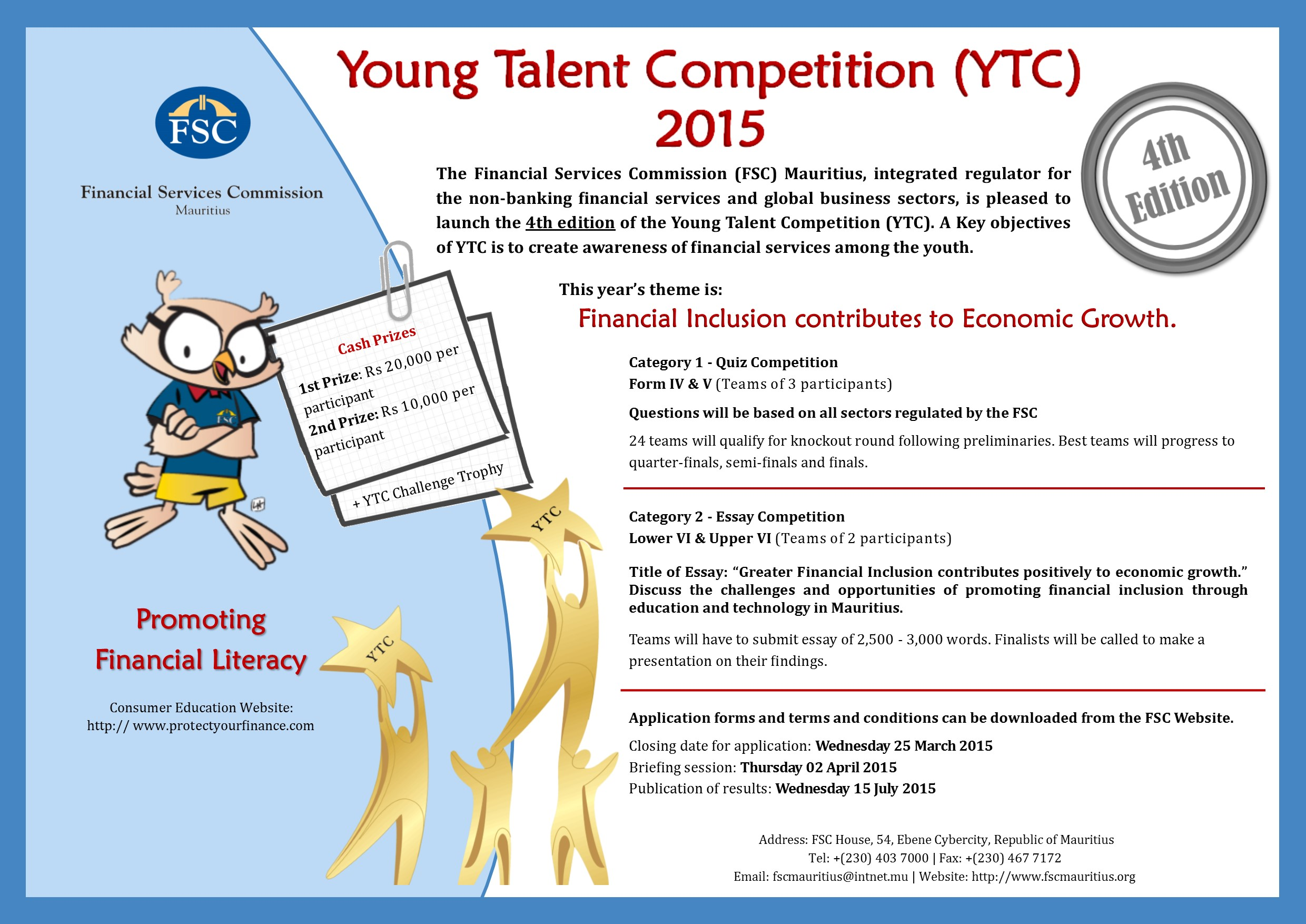 young talent competition financial services commission poster